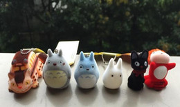 Wholesale set Japanese Hayao Miyazaki Cartoon Movie My neighbor Totoro Ponyo on the Cliff KiKis Delivery Service Figure Toy Keychains