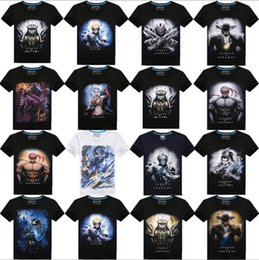 Wholesale plus size t shirt new men s cotton short sleeved T shirt Men s D Printing Ink lol game League of Teemo wind XXXL TOPAA1276