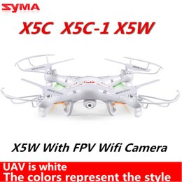 Wholesale-Syma x5c Upgrade Syma x5c-1 2.4G 4CH 2.0MP aerial RC Helicopter Quadcopter Toys Drone or Syma X5W With Wifi FPV Real-time Camera