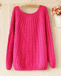 Hot Sale New Women Knit Sweaters Fashion Autumn & Winter Loose vintage twist Knitted Pullovers Outerwear 8 Colors one size