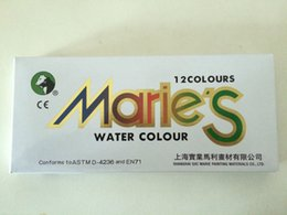 Wholesale 12colors set Marie s Watercolor Paint Painting Pigmen Colour Set ml Tube Artist