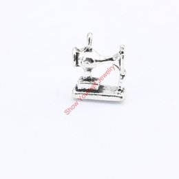 Wholesale 15pcs Antique Silver Plated Sewing Machine Charms Pendants for Jewelry Making DIY Handmade Craft x12mm Jewelry making DIY