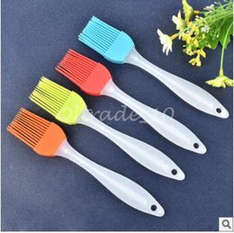 Wholesale 500pcs CCA3053 High Quality Hot Silicone Basting Cooking Pastry Brush Kitchen Heat Resistance Silicone BBQ Brush Portable Kitchen Brushes