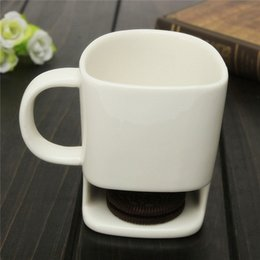 250ML unique Ceramic Mug White Tea Biscuits Milk Dessert Cup Tea Cup coffee mugs Home Office