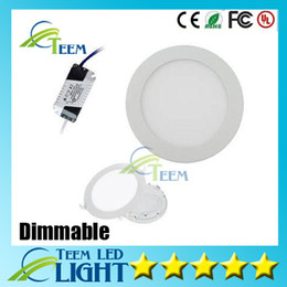 Wholesale Dimmable Round Led Panel Light SMD W W W W W W W V Led Ceiling Recessed down lamp SMD2835 downlight driver
