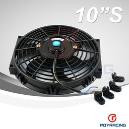 Wholesale PQY STORE Inch Universal V W Slim Reversible Electric Radiator AUTO FAN Push Pull With mounting kit Type S