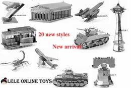 Wholesale D puzzle for adult New Dubai Athens Construction D Nano metal Puzzle DIY juguetes educativos brinquedos para as crian