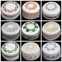 Wholesale Hot Sales Newest Muslim Men Hats Arab Men Prayer Caps Islamic Embroidery Caps Can Choose Colors FD001 Man Cap