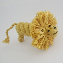 Wild Animal Series Cotton String Pet Toys Dog Toys-- Lion