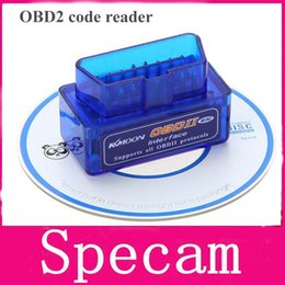 Wholesale 100pcs DHL free Super Mini ELM327 Bluetooth OBD2 Adapter Auto Scanner obdII Bluetooth ELM car code reader Support All OBDii