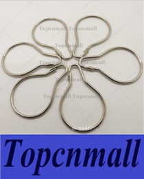 Wholesale 1000pcs New Stainless steel Chrome Plated Shower Bath Bathroom Curtain Rings Clip Easy Glide Hooks Fedex