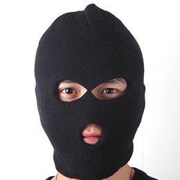 Sombreros casual para los hombres en Línea-Moda Unisex Mujer Hombre caliente del invierno de la cara llena de la cubierta de la máscara de esquí de la gorrita tejida del casquillo