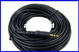 Accessoires audio portables en Ligne-HOT- 2pcs câble audio de livraison libre M F câble de cuivre de haute qualité Accessoires d'ordinateur Gras 15 mètres 3.5 interfaces M / F