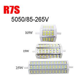 R7S LED Light 10W 15W 25W 85-265V SMD 5050 Ampoule Remplacer le projecteur halogène par epacket PM01278 à partir de lampe halogène 15w conduit fournisseurs