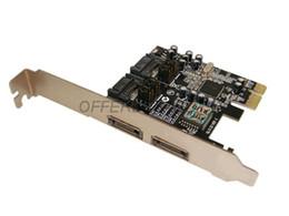 Wholesale-2 Port ESATA & 2 Port SATA To PCI-Express PCI-E PCI-E to ESATA Adapter Card Free Shipping