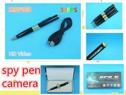 Wholesale - NEW 1280*960 SPY Video Record Camera Pen HD DVR memory card Micro SD Card Hidden spy pen i6