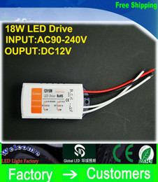 High quality 12V 1.5A 18W 100-240v Lighting Transformers high quality safe Driver for LED Strip RGB ceiling Light bulb Driver Power Supply