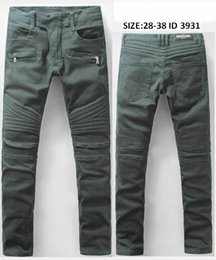 Wholesale New Arrive Skinny water wash Motorcycle mens jeans desinger B3931 in single cow thickened Slim paris top quality plugs men s jeans