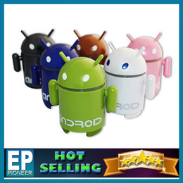 Wholesale Retail packaging The android robot bluetooth mini speaker Tablet PC Google Android Robot Mini Speaker with TF Card Slot FM Raido