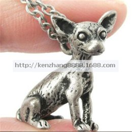 2015 New Arrival Direct Selling Trendy Layer Necklace Collares Colar So Cute 3d Chihuahua Animal Charm Dog Lover Necklace In