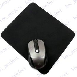 1.5mm thickness 20.0cmx24.0cm Natural rubber New black tasteless Mice Mouse Pad Mat Mousepad 500pcs lot for free DHL