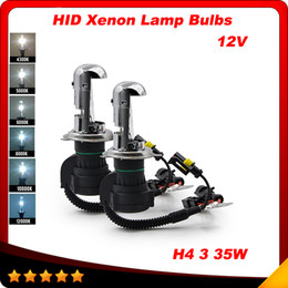 Wholesale 12v W pair H4 Hi Lo Beam Lamp hid light Xenon h4 bulb K car lighting Automotive for BiXenon hid kit