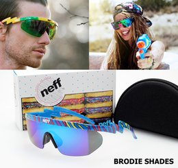 Wholesale-2016 New Fashion NEFF Brand BRODIE SHADES Sunglasses Outdoor Sports Street Style Cool Sun Glasses 2 Piece Lense Oculos De Sol