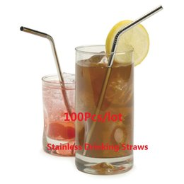 Promotion! Free shipping 100pcs lot High quality Metal drinking straw stainless steel straw food grade