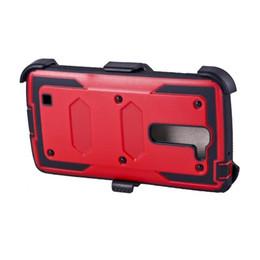 Wholesale Belt Clip PC TPU w Screen Protector Heavy Duty Case For LG Leon C40 LS700 C90 S6 EDGE PLUS NOTE5 IPHONE PLUS S DHL
