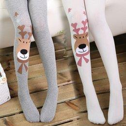 7 Colors Children Cartoon deer leggings Socks Cotton Socks Girl Cotton Leggings Socks Kids Baby Clothing Leggings Socks 12 Pair lot