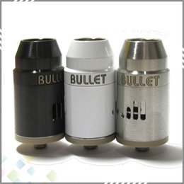 Wholesale Bullet RDA Rebuildable Atomizers Dripping Vaporizer Clone PEEK Material Stainless Steel Adjustable Air Flow Fit Mechanical Mods DHL Free