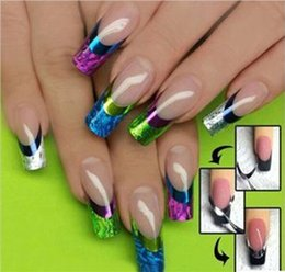 Wholesale 3D Color Design Manicure Tips French Nail Art Transfer Stickers Decal Decoration