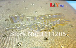 Wholesale Restaurant Manager Padfolio PVC Golden Stars Welcome Money folder Tips Changes Clip Bar accessories scrapbooking stickers