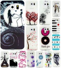 Wholesale For Galaxy J1 Mini S7 S7 Edge A7 A7100 A5100 Love Tree Lover Dreamcatcher Glow In Dark Henna Mandala Soft TPU Case Eiffel Tower Skin