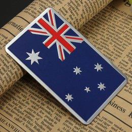 Wholesale Audew Car Accessories Sticker Metal D Australian Flag Metal Car Badge Chrome Car Emblem All Wheel Drive Auto Sticker order lt no track