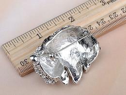 Wholesale Fashion Jewelry Brooches Adorable Cute Clear Black Crystal Rhinestone Baby Panda Zoo Animal Pin Brooch brooch pin supplies
