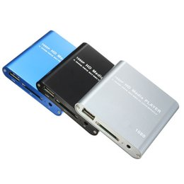 Wholesale New P HDD Muti function Muti track Media Video File Player MKV H RMVB Full HD With HOST USB Card Reader