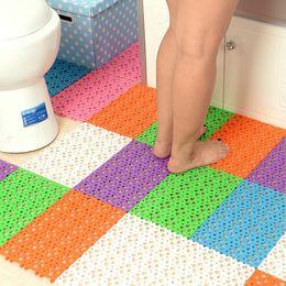 Wholesale Deal New Assemble Freely water insulation Non slip Mat Bathroom Shower Antiskid Floor Mats Hollow out Water proof Mat