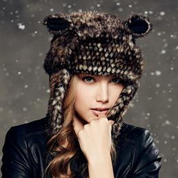 Descuento sombreros trampero Venta al por mayor Kenmont-invierno caliente Bombardero muchacha de las mujeres de señora con orejeras al aire libre Trapper aviador animal del sombrero del casquillo de esquí 4866