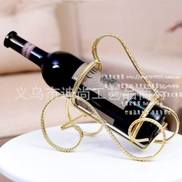 Wholesale 2pcs Creative home bar wine bottle holder home decor Gifts artillery golden wine rack wine rack iron wine rack table settings
