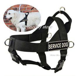 Wholesale Details about NEW service dog harness large Safe Nylon pet pitbull boxer Soft Vest Harness