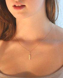 10PCS- inN053 WAngel gs Feather necklace Olive leaf necklace Nature Pot PlantTree Leaf necklace vine