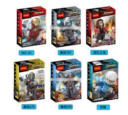 Wholesale The Avengers Building Blocks Styles New Superhero Avengers Age of Ultron Iron Man Quick silver Scarlet Witc Bricks baby Toys B001