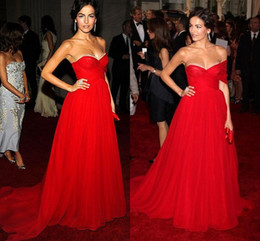 Red Long Evening Dress Sexy pagent Dresses Custom Made Celebrity Gown Vestidos de festa Cheap Prom Gowns
