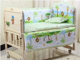 Wholesale 5 sets baby bedding set x56cm cotton curtain crib bumper baby cot sets baby bed bumper