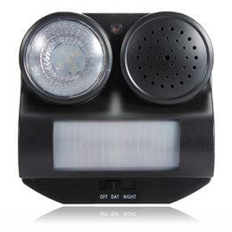 Wholesale Brand New PIR Motion Activated Sensor Ultrasonic Sound Flashlight Animal Bats Bird Repeller Repellent