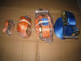 Wholesale kgx3M cargo transporation ratchet tie down cargo lashing strap with hook