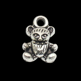 Online Wholesale Vintage Alloy Teddy Bear Shape Charms For Jewelry Bangle Making 50pcs Free Shipping AAC134