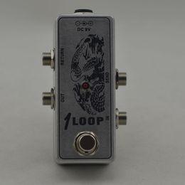 Wholesale True Bypass Looper Effect Pedal Guitar Effect Pedal Looper Switch true bypass guitar pedal Mini Aluminum Loop switch