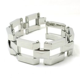 Wholesale Fast Awesome Railroad Track Bracelet L Stainless Steel Hot Fashion Punk Style g Heavy Cool Bracelet